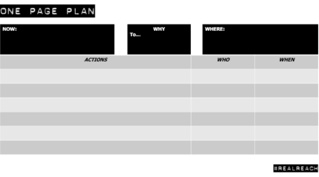 One Page Plan Image